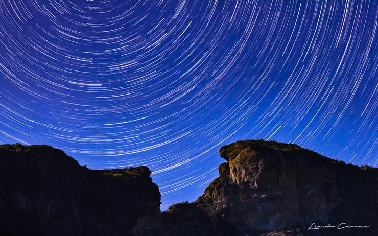Moonlight Star Trail