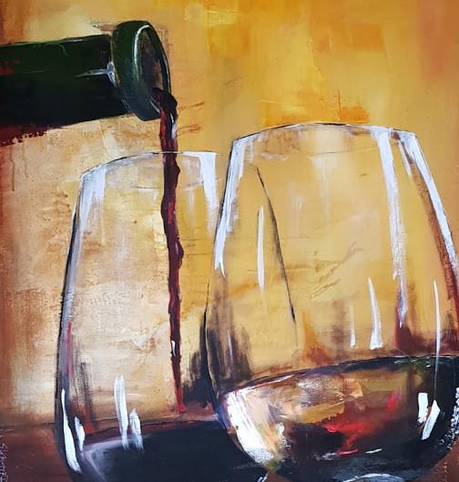 Wein und Kunst - ´ne gute Kombi