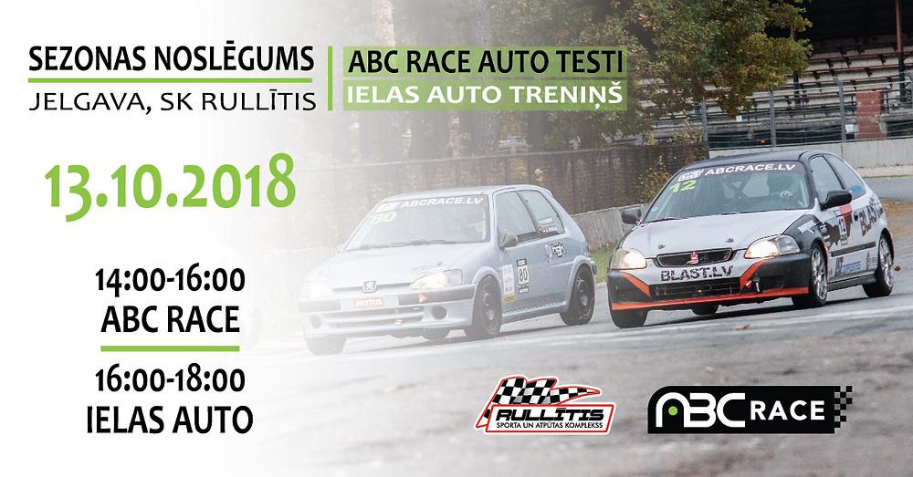 ABC Race auto testi, sezonas noslēgums 2018