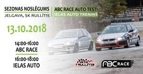 ABC Race sezonas noslēguma pasākums notiks 13. oktobrī, Jelgavā.