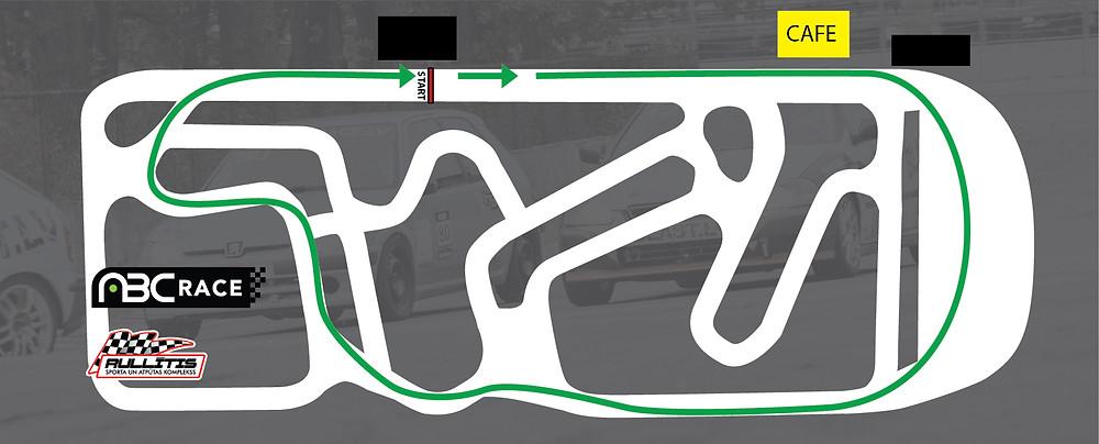 ABC Race sezonas noslēguma trases konfigurācija 13.10.2018 sk Rullītis