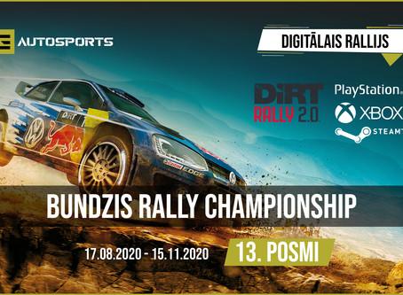 """Otrajā Digitālā Rallija """"Bundzis Rally Championship"""" ziemas apstākļos Zviedrījā izcīna pieredzējušai"""