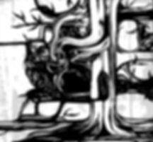 abstarct tree, black and white tree, graphics
