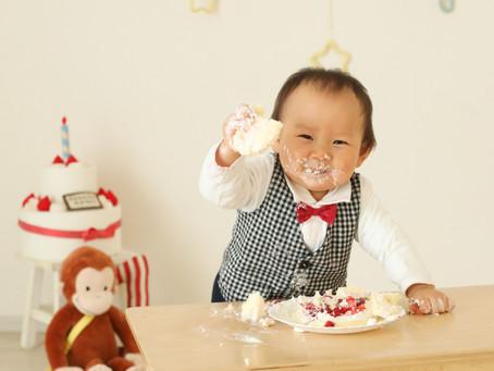 1歳お誕生日写真撮影(茨木市)