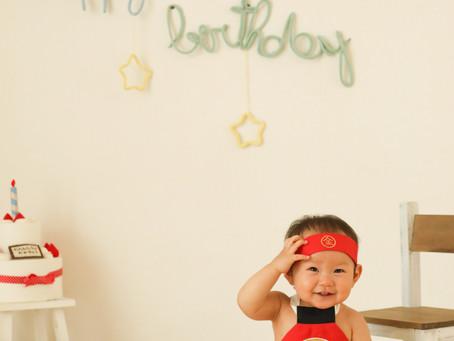 1歳誕生日写真撮影(茨木市)