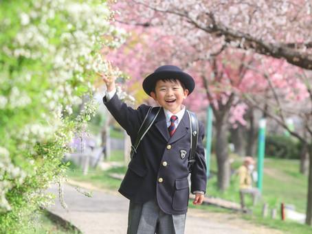大阪市へ桜入学写真出張撮影お伺いしました