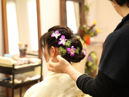 茨木市成人式準備から写真撮影