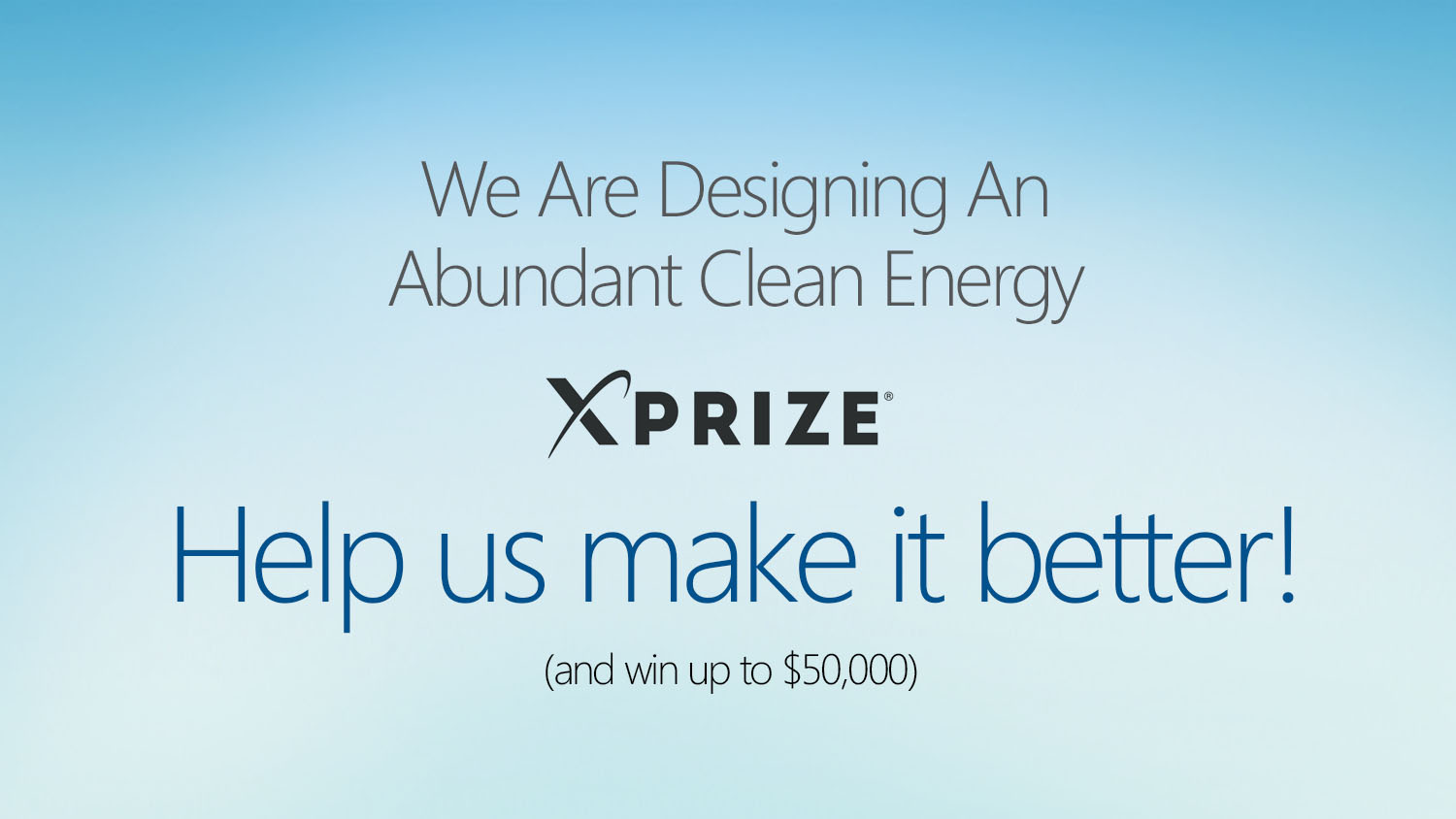 XPrize Call to Action