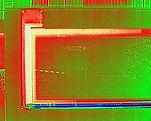 Thermographie encadrement de fenêtre