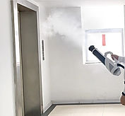 spraying fog near elevator.jpg