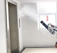 spraying fog near elevator.jpg