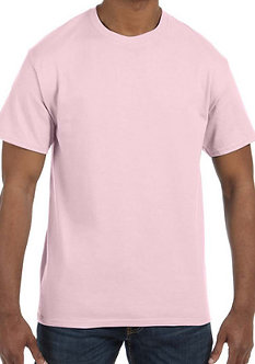 Adult Unisex T-Shirt 5.3 oz. Light Pink