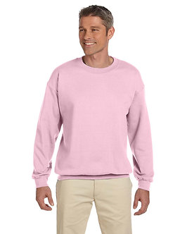 Adult Unisex Fleece Crew Light Pink