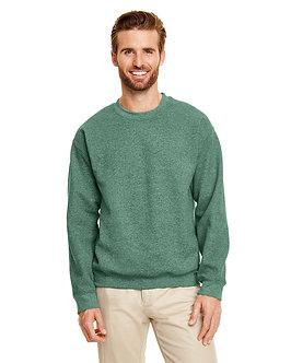 Adult Unisex Fleece Crew hth sp drk green
