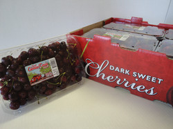 Cherries in a clamshell
