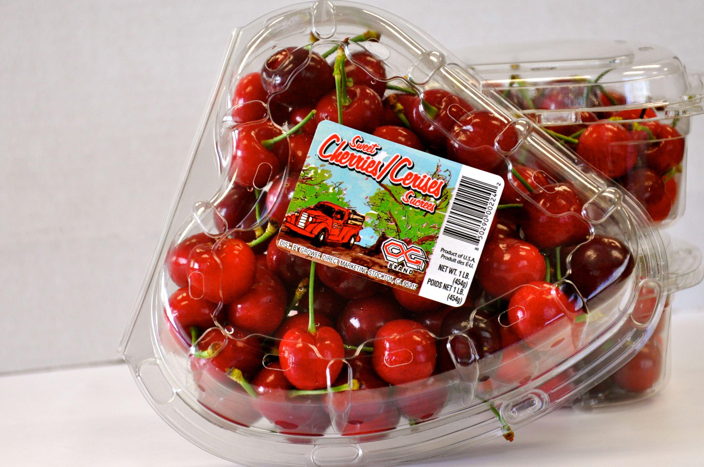 Cherries in packaging