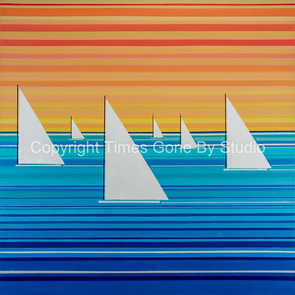Six White Sails