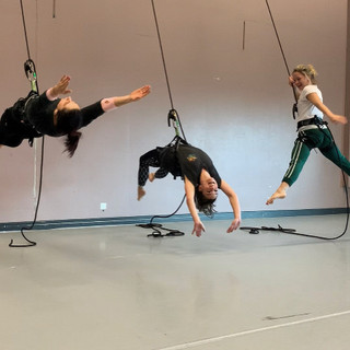 Off The Wall Aerial Dance Circus rehearsals