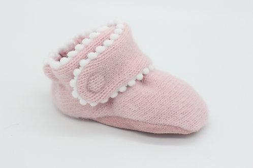 Etta Pink Sweater with Bop Trim