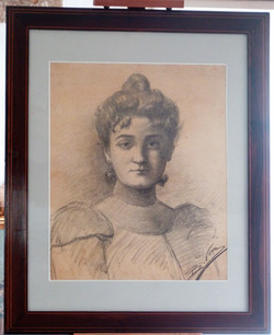 Portrait restauré et encadré