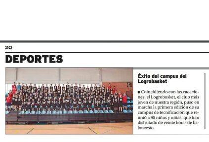 Éxito del primer Campus Logrobasket