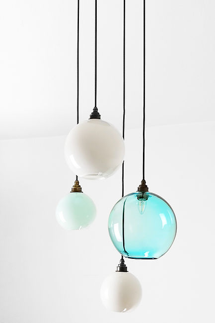 Glass Sphere Chandelier