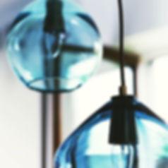#kitchenlighting #glasspendants #midcent