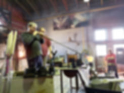 Handmade glassblowing production