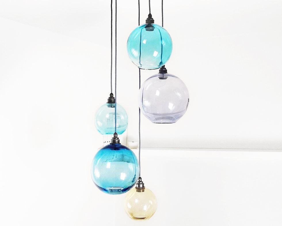 Glass Cluster Pendant Chandelier
