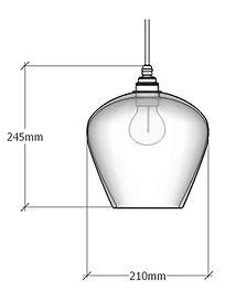 Bell Pendant Dimensions