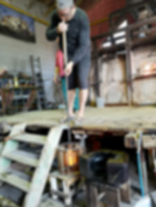 Glassblowing production