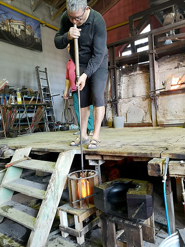 Glassblowing production