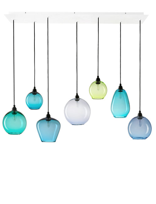7 Light Pendant Rectangular Panel (Mix)