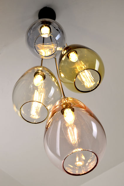 Coloured Glass Cluster Pendant Lights.jp