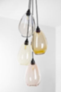 Glass Cluster Pendant Light