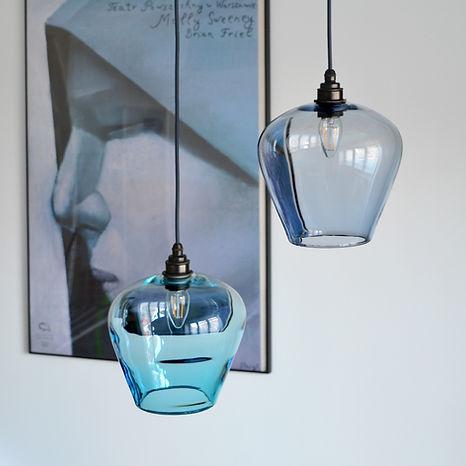 hand blown glass pendant lights