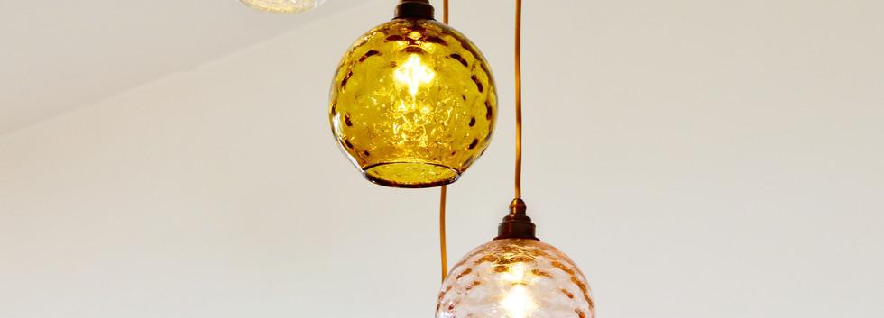 amber pendant lights