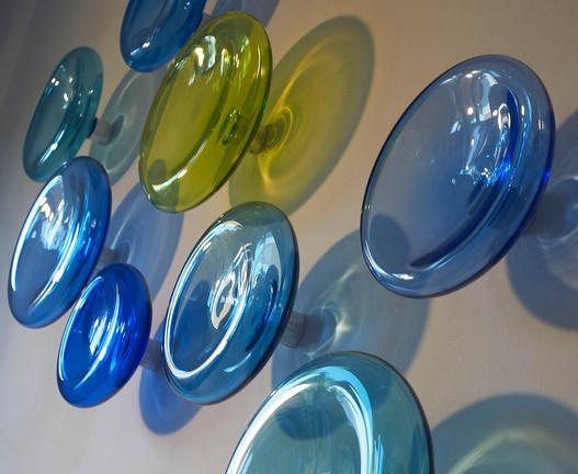 Hand Blown Glass Wall Art Detail