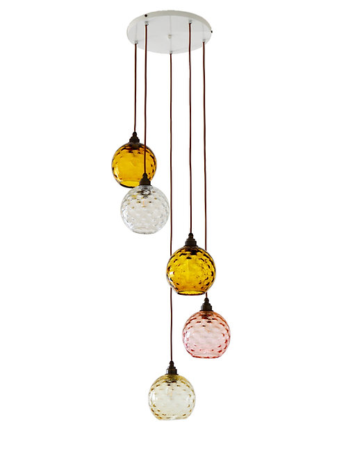 5 Light Pendant (Globes)
