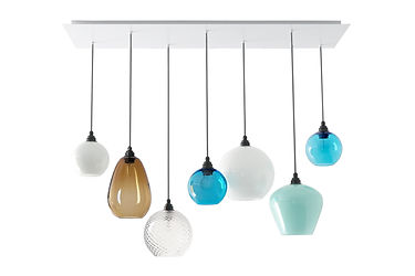 glass pendant lights for kitchen island