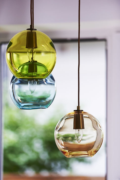 glass globe chandelier