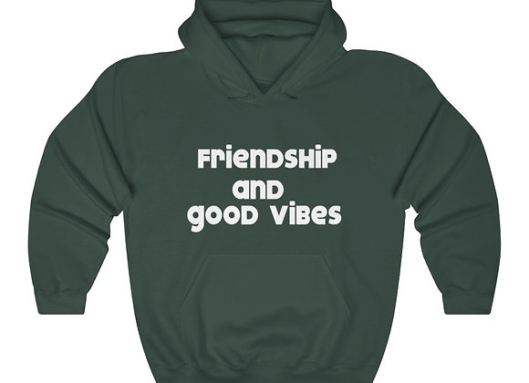 Friendship and Good Vibes Unisex Heavy Blend™ Hooded Sweatshirt