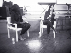 Awesome Friday at youth! Alcyone put me on the spot to speak tonight, so we did it interview-style