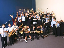 What a fab way to end my first teaching week in Sharjah! 🙌😁💛🎷 Celebratory cheer with one of our