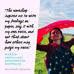 Marzia Abdullahi   Afghanistan, Australia