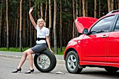 Шиномонтаж на месте ДТП. The tire at the accident scene