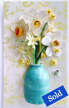 Daffodils in Little Jade Vase
