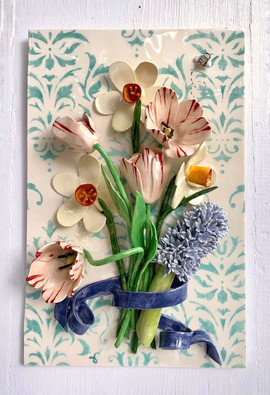 Spring Bouquet on Turquoise Damask.jpg