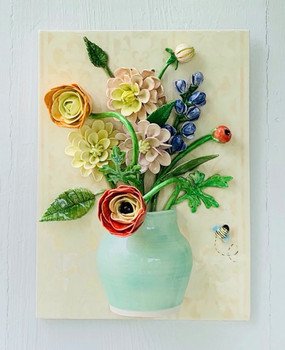 Mixed bouquet in Celadon Vase