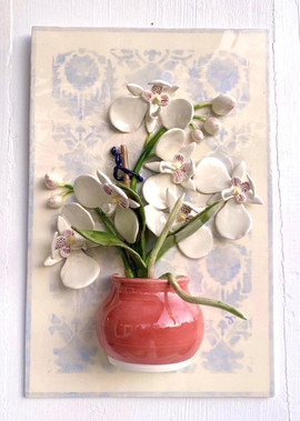 Orchid in Little Red Pot